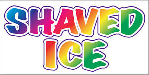 3x10 Ft Shaved Ice Vinyl Banner Sign New Wb