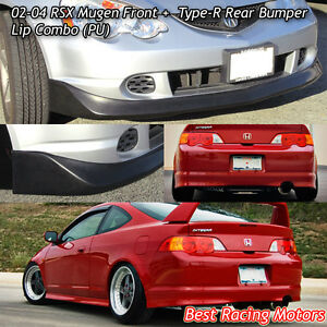 Mu gen Style Front Tr Style Rear Bumper Lip urethane Fit 02 04 Acura Rsx 2dr
