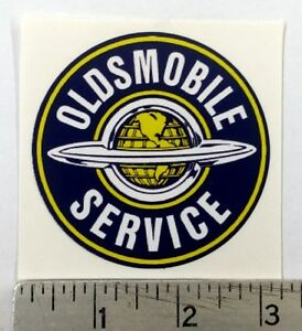 Vintage Oldsmobile Service Sticker Decal 3 Dia