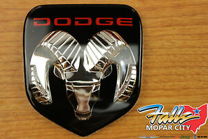 1994 2003 Dodge Ram Dakota Durango Chrome Ram Head Grille Emblem Mopar Oem