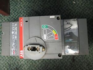 Abb Breaker Disconnect Switch S4h Sace S4 3p 250a 600v loose Trip Unit Used