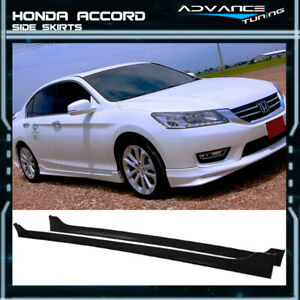 For 13 16 Honda Accord 4door Md Style Side Skirts Unpainted Black Pp