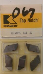 Kennametal Ng 4189l Top Notch K68 Jc Lathe Carbide 5 Inserts Grooving Cut Off