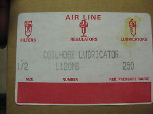 New Coilhose Pneumatics In line Air Line 1 2 Lubricator L120mb Metal Bowl