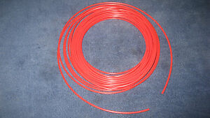 5 32 Pneumatic Polyethlene Tubing Push In Fittings Red10 Ft Pe2510 r