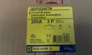 Square D Qdp32200tm 200 Amp 3 Pole Breaker new In Box