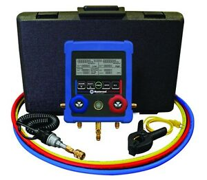 Mastercool 99661 a Complete Hvac Digital Manifold Set With Hoses Brand New
