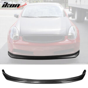 Fits 03 06 Infiniti G35 Coupe Ns Style Urethane Front Bumper Lip Spoiler