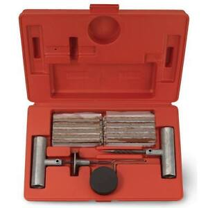 35 Pieces Tire Repair Tool Kit W Case Plug Patch New