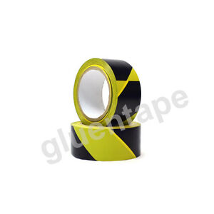 Vinyl Floor Safety Marking Tape 2in X 36 Yd 5mil Pvc Black yellow 12 Rolls