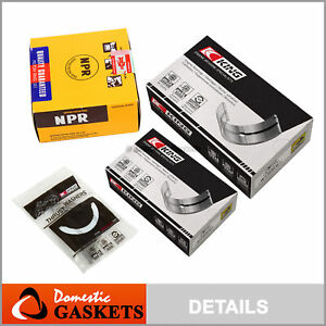 Fit 01 05 Honda Civic Main Rod Bearing Piston Rings Set D17a1 D17a2 D17a6 D17a7