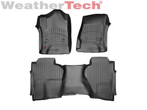 Weathertech Floorliner Mat For Sierra Silverado Double Cab 2014 2015 2018 Black
