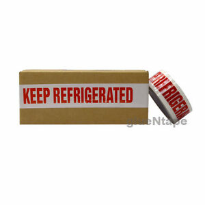 Keep Refrigerated Preprinted Packing Tape 2 Inch X 110 Yards 36 Rolls
