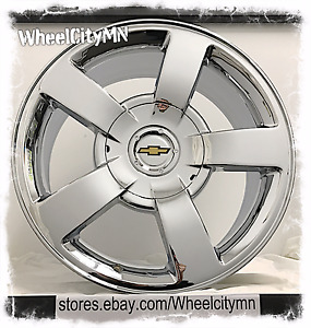 20 Inch Chrome Chevrolet Silverado Ss Oe Replica Factory Wheels Rims Tahoe 6x5 5