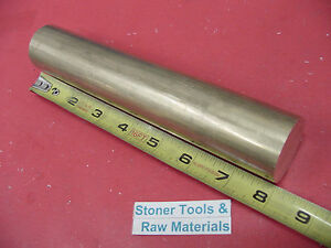 1 1 2 C360 Brass Round Rod 8 Long Solid H02 Lathe Bar Stock New