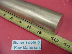 1 1 2 C360 Brass Round Rod 10 Long Solid H02 Lathe Bar Stock 1 50 Diameter