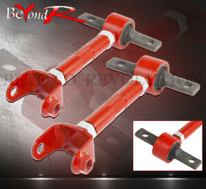 02 06 Rsx Civic Si Adjustable Rear Suspension Camber Arm Control Kit Red