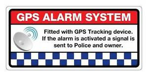 Gps Alarm System Tracking Sticker 100mm X 47mm Secure