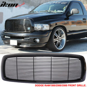 Fits 02 05 Dodge Ram 1500 03 05 Ram 2500 3500 Mesh Front Grille Unpainted Abs