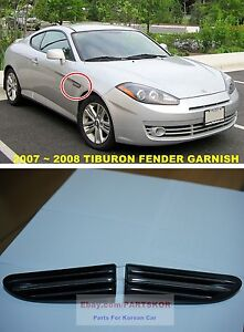 2007 2008 Hyundai Tiburon Coupe Fl2 Fender Garnish Insert 1set Genuine Parts