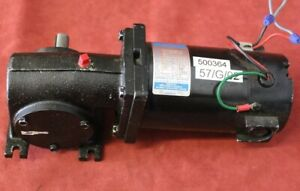 Leeson Cm34d25nz9b Gear Motor 1 8hp 90v 500rpm Fame 34 Used