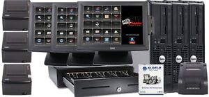 Aldelo Restaurant Bar Pizza Italian Pos three I3 Stations Pro Version W7 New