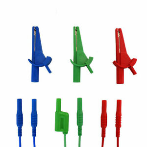 Blue red green Croc Clips Test Lead Set For Fluke multifunction Testers Ldm605
