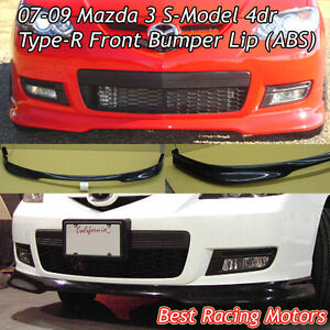 Type r Style Front Bumper Lip abs Fits 07 09 Mazda 3 4dr S model