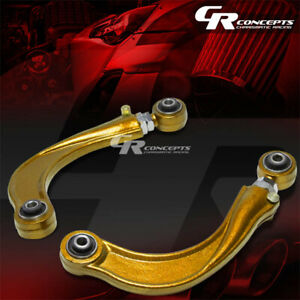 Adjustable Rear Upper Camber Kit Arm Bar Suspension For 00 06 Toyota Celica Gold