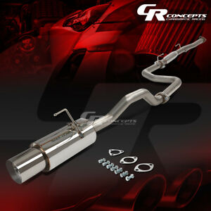 4 5 Muffler Tip Catback Racing Exhaust System For 92 00 Honda Civic 2 4dr Ej em