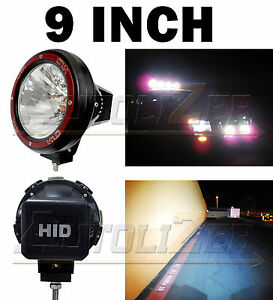 1x Universal 9 Inch Built In Xenon Hid 4x4 Off Road Rally Driving Fog Light Lamp