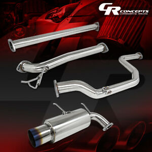 4 5 Muffler Burnt Tip Catback Exhaust Race System For 90 93 Acura Integra Da Db