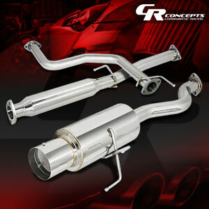 4 5 Muffler Tip Catback Race Exhaust System For 96 00 Honda Civic 3dr Hatchback