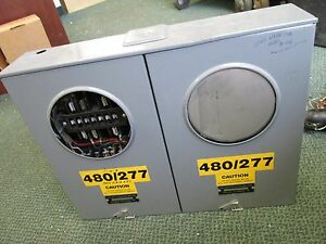 Superior Tech 2 position Meter Socket 480 277v 3ph W Relay 3r Enclosure Used