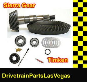 Sierra Gear Gm 8 5 3 73 Ring And Pinion Timken Pinion Install Kit Axle Bearings