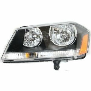 Halogen Headlight For 2008 2010 Dodge Avenger Left W Bulb