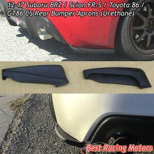 Bottom Line Cs Style Rear Bumper Aprons Fits 12 16 Scion Fr S 12 21 Subaru Brz