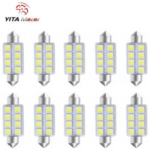Yitamotor Cool White 42mm 578 Festoon 5050 8smd Led Dome Map Interior Light Bulb