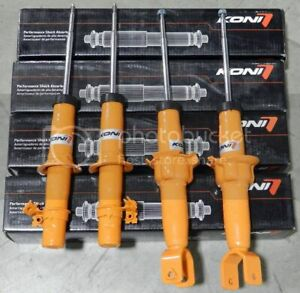 Koni Str T Street Orange Front Rear Shocks Struts Set 4 Civic 96 00 Str T Kit