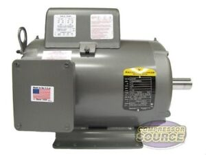 7 5hp Single Phase Baldor Electric Compressor Motor 215t Frame L1510t 230 Volt