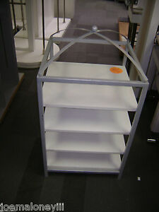 Retail Display White Short Domed Shelving Unit Display Rack