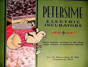 Petersime Electric Incubators 1932 Catalog Gettysburg Ohio Poultry Related