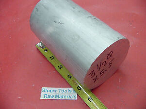 3 1 2 Aluminum 6061 Round Rod 5 5 Long T6511 Solid New Lathe Bar Stock 3 5 Od