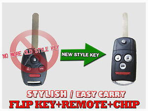 Blade New Flip Switch Remote Key Fob Keyless For 08 12 Honda Accord Coupe Kc