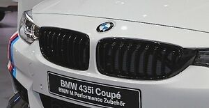 Bmw F32 F33 4 series Genuine M Performance Gloss Black Grille Pair Grilles New
