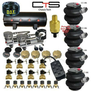 Fbss Air Suspension Kit bags valves tank pswitch airline compress switch Crosses
