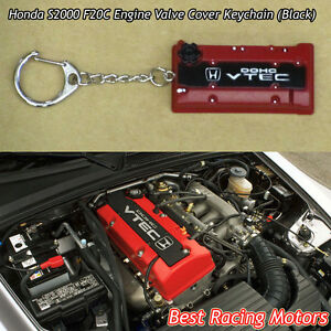 F20c Engine Valve Cover Style Keychain black Fits Honda S2000