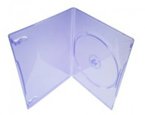 100 Slim Clear Purple Color Single Dvd Cases 7mm