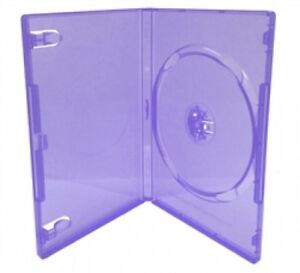 100 Standard Clear Purple Color Single Dvd Cases