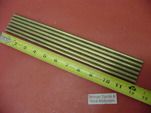 6 Pieces 5 16 C360 Brass Solid Round Rod 12 Long H02 312 Od Lathe Bar Stock